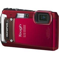 OLYMPUS TG-820 12MP SHOCK/WATER/FREEZE-PROOF CAMERA-RED V104060RU000