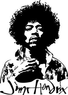 Jimi Hendrix by on DeviantArt White Art, Black And White, Janis Joplin, Stencil Art, Art Plastique, Pyrography, Airbrush, Rock Art, Rock And Roll