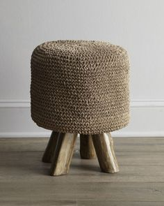 Woven Footstool at Neiman Marcus.  shall i order for kids house?  or guest room?
