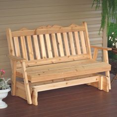 Have to have it. A & L Furniture Western Red Cedar Royal English Outdoor Glider Loveseat - $299.98 @hayneedle