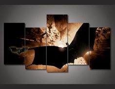 Style Your Home Today With This Amazing 5 Panel Nachalo Batman Begins Framed Wall Canvas Art For $99.00  Discover more canvas selection here http://www.octotreasures.com  If you want to create a customized canvas by printing your own pictures or photos, please contact us.