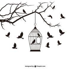Vögel und Rahmen Vektor-