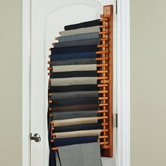 The Closet Organizing 20 Trouser Rack - Hammacher Schlemmer...yup need one for the closet!