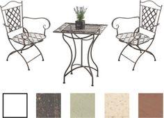 Garten Sitzgruppe PAYO, Metall (Eisen) Lackiert, Design Nostalgisch Antik,  Tisch Quadratisch 60 X 60 Cm + 2 X Eisenstuhl Mit Armlehnen Jetzt Bestellen  ...