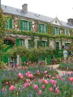Claude Monet's house & garden in Giverny, France ~ beautiful