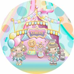 Cake Images, Circus Party, Cute Dolls, Candy Colors, Cake Toppers, Cute Pictures, Diy And Crafts, Backdrops, Cute Drawings