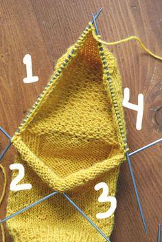 mesh distribution on the lower needles Crochet Bear Patterns, Knitting Patterns, Crochet Wool, Knitted Slippers, Knitting Videos, Knitting Socks, Crochet Bikini, Sewing, Tricot Simple