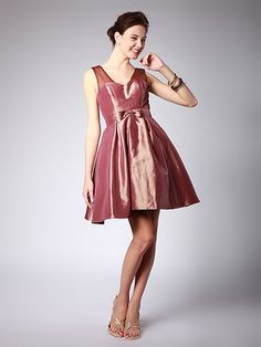 A-Line Taffeta Bridesmaid Dress | Up to 15% off, plus FREE Custom Made! 10+ measurements required for a perfect fit, no matter what sizes you are in!