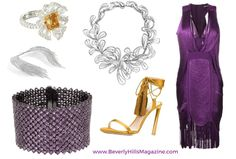 Fashion Look Featuring Herve Leger Day Dresses and MICHAEL Michael Kors Shoulder Bags by bevhillsmag - ShopStyle Pink Fashion, Colorful Fashion, Style Fashion, Fashion Looks, Michael Kors Shoulder Bag, Dressy Outfits, Gold Style, Marchesa, Purple Gold