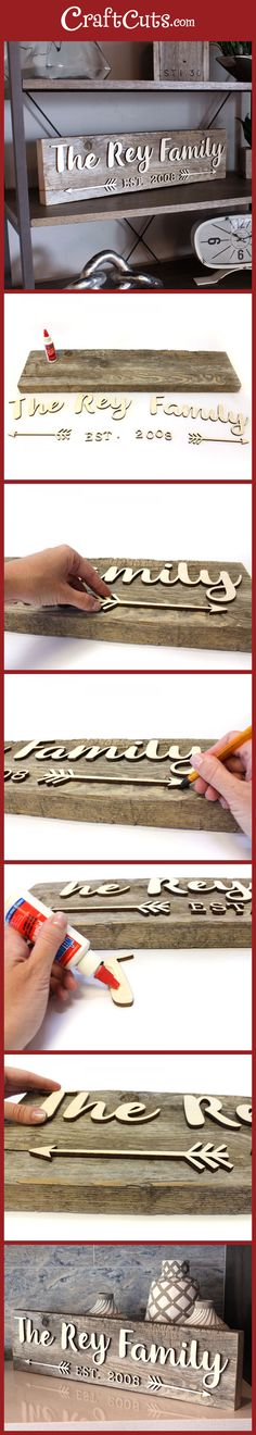 Reclaimed Wood Family Sign | Wedding Sign | Anniversary Sign | CraftCuts.com