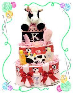 Kandis Moo Diaper Cake
