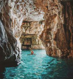 Sea caves in Istria, Croatia