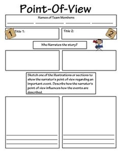 Point of View Worksheet | Favorite Places & Spaces | Pinterest ...