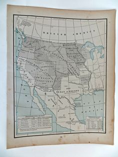 Antique Map of the United States 1845 to 1860 by FabulousFunFashion on Etsy