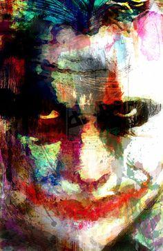 Joker Villains collection (Heath Ledger) by on DeviantArt Wood Art Panels, Panel Art, Art Du Joker, Posters Geek, Joker Villain, Batman Sign, Joker Batman, Batman Hero, Joker Heath