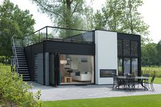 Dream homes sLOVEnia - Real Estate Slovenia - www. Container Van House, Building A Container Home, Container House Design, Small House Design, Modern House Design, Garden Container, Minimalist House Design, Modern House Plans, Prefab Homes
