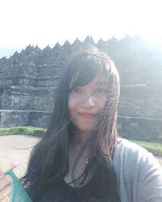 Morning Sunshine☀   nb: dear hair, it's okay not to be okay    at Borobudur temple - Indonesia