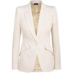 Alexander McQueen Wool-piqué blazer