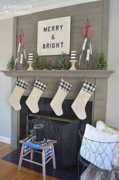 christmas mantel - Christmas Mantel Decorating Ideas Pinterest