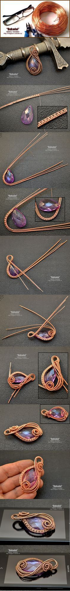Weave wire jewelry. Photography lesson for beginners.   Crafts