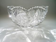 Cut Crystal Bowl American Brilliant Cut Glass by vintagebiffann Cut Glass, Glass Art, Engraving Art, Glass Fruit Bowl, Antique Glass, Bride Gifts, Gifts For Her, Bowl Cut, Wedding Attire