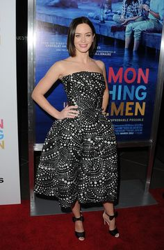 More Pics of Emily Blunt Evening Sandals