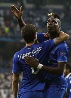Real Madrid-Juventus, la festa