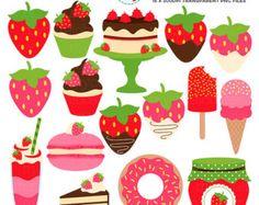Fresas imágenes prediseñadas Set de  clip art de fresas