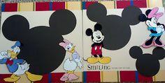Fabulous Disney scrapbook layout featuring Mickey, Minnie, Donald, and Daisy. Disney Scrapbook Pages, Scrapbook Paper Crafts, Scrapbook Cards, Scrapbook Layout Sketches, Scrapbooking Layouts, Digital Scrapbooking, Disney Mickey, Walt Disney, Mickey Mouse