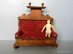 altes Sofa Gründerzeit original um 1900 Puppenstube