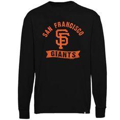 '47 Brand San Francisco Giants Pitch Hit Long Sleeve Flanker T-Shirt - Black