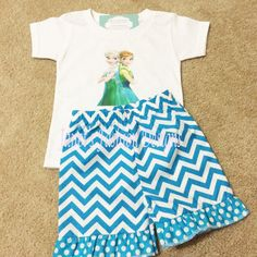 Disney's Frozen Fever Elsa and Anna T-Shirt / Onesie and