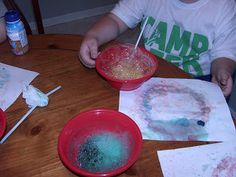 Painting with Bubbles – Preschooler Activity or Summer Kids Activity