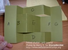 shutter cards   OWH Stars and Stamps: Cardmaking 301: Trifold Shutter Card Tutorial