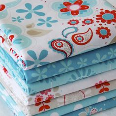 Coming Soon Lovely Quilts from this fabulous stack of fabrics - Fat Quarter Bundle Cottons: Twice As Nice, 7 Fabrics - cotton fabric