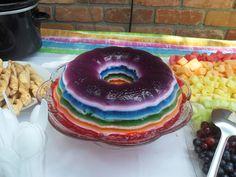 Rainbow Jello for Rainbows and Unicorns Party