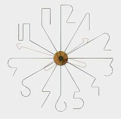 Wire clock by Mark Prommel