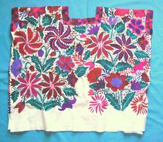 Embroidered huipil from Tzotzil community of Zinacantan, Chiapas