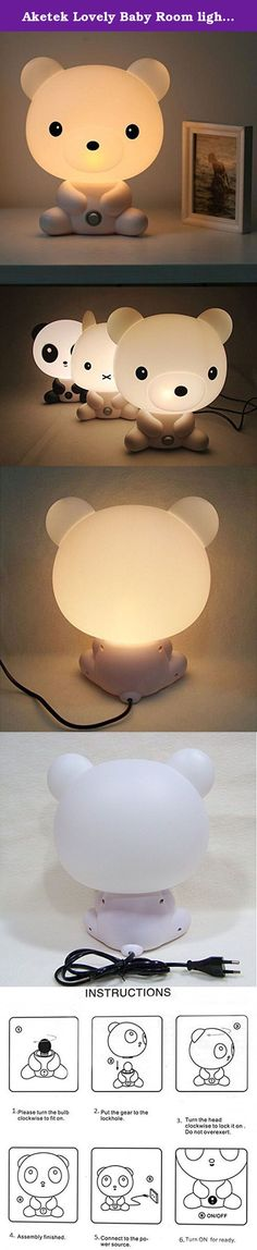 Aketek Lovely Baby Room light Cartoon Panda White Bear Kids USB Bed Lamp Night Sleeping Desk Lamp Light best for Gift. Note:This is the lastest cartoon table lamp,it only have EU Plug,but we could provide US power plug adapter for free. So cute Lamp: Very cute cartoon bed lamp When shining, looks so comfortable and warm sweet the whole house. Every child likes it so much Place it beside bed, give a sweet style for sleeping,perfect for children ,girls' birthday gift. Instructions: 1,Please...