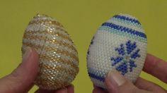 Вязание с бисером. МК пасхальное яйцо