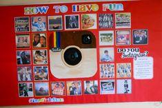 """Instagram inspired """"meet the teacher"""" bulletin board"""