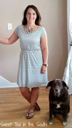 What a comfortable, classic look from Stitch Fix on Jess of Sweet Tea in the South! So comfy for those hot summer days and nights!