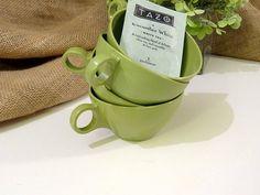 Vintage Tea Cups/Coffee Cups  Melamine Avocado by EtsyBitsyVintage, $8.50