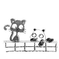 【一日一大熊猫】2017.2.22 にゃーにゃーにゃーで猫の日。 猫と暮らそうとして今の所に引っ越して来たけど まだ迎え入れてません。 自分の生活がなんか不安定な感じがするので。。。 #パンダ #猫 #猫の日 #大熊猫