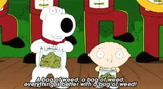 Everythings Better With A Bag Of Weed GIF Family Guy - http://acme420.com/2013/07/20/everythings-better-with-a-bag-of-weed-gif-family-guy/