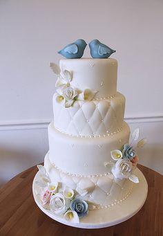 Love Birds, Garden, Quilting Cake