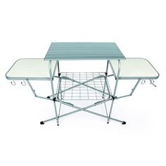 Outdoor Barbecue Kitchen Deluxe Grilling Table Steel Frame Aluminum Tabletops Great for RV trips, Camping, Travel Trailers and Backyard and Patio Camco Deluxe Folding Grill Table gives you plenty of room for prep and storage! It's a spacious. Camping Furniture, Outdoor Furniture, Camping Kitchen Table, Grill Table, Camping Glamping, Camping Gear, Camping Hacks, Diy Camping, Camping Essentials