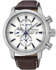 Seiko Neo Sports Men's Watches for sale online Mens Watches Leather, Leather Men, Watches For Men, Brown Leather, Timberland, Tommy Hilfiger, Seiko Mod, Gucci, Xmas
