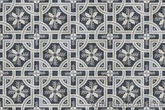 Trapani Midnight Cement Tile in a 9x6 layout.
