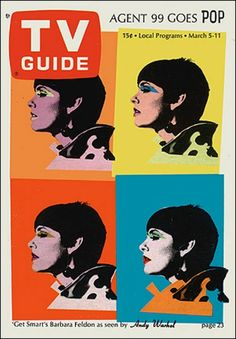 Get Smart's Barbara Feldon by Andy Warhol on the cover of TV Guide, March 5, 1966.